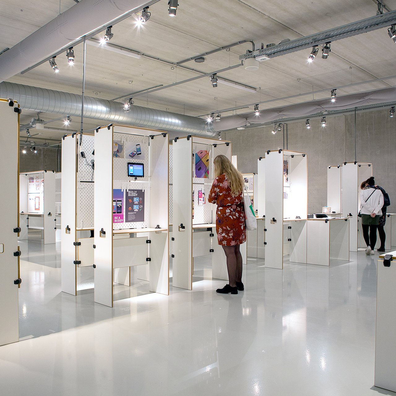 Design the layout for an exhibition