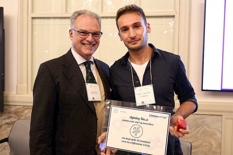 Certified B Corporation: PlayWood won the first prize of the competition Be a B Corp for start-ups promoted by Ayming