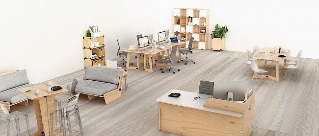 Offices furnished with Playwood furniture